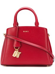 Donna Karan Satton Medium Tote Red
