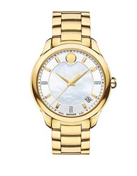 Movado Bellina Diamond Accented Goldtone Pvd Stainless Steel Watch