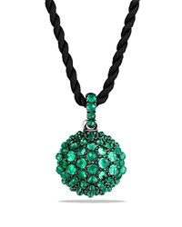 David Yurman Osetra Pendant Necklace With Green Onyx Green Black