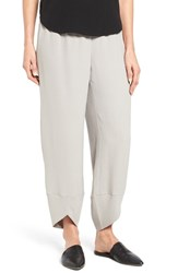 Eileen Fisher Women's Silk Georgette Crepe Ankle Pants Silver