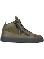 Giuseppe Zanotti Design 'The Shark 4.0' Mid Top Sneakers Green