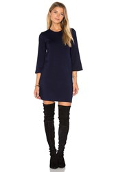 Monrow Long Sleeve Mini Dress Navy
