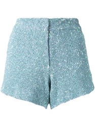 Manish Arora Sequinned Shorts Women Nylon Polyester 34 Blue