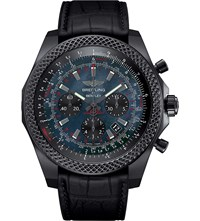 Breitling Bentley Stainless Steel And Carbon Watch