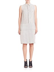 Rag And Bone Virginia Dress Black White Stripe