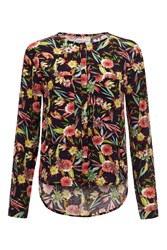 Almost Famous Tropical Print Shirt Navy