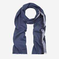 Bally Wool Stripe Scarf Blue Multidarknavy