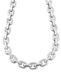 Macy's Men's Stainless Steel Necklace 24' Anchor Link