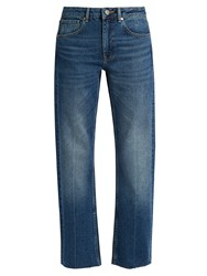 Raey Press Straight Leg Jeans Dark Blue