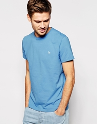 Jack Wills T Shirt With Pheasant Logo Cornflour