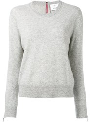Allude Zipped Cuffs Jumper Grey