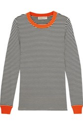 Michael Michael Kors Striped Stretch Jersey Top Midnight Blue