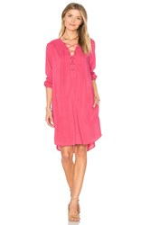 Velvet By Graham And Spencer Zoey Lace Up Dress Pink