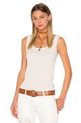 Ragdoll Low Back Rib Tank White