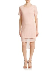 Cluny Georgette Detail Tee Shirt Dress Nude