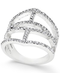 Inc International Concepts Silver Tone Pave Ring Only At Macy's