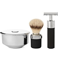Marram Co Chrome Plated Safety Razor Shaving Set Colorless