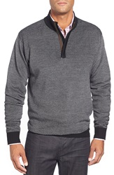Peter Millar Quarter Zip Merino Wool Sweater Black