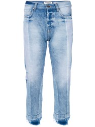 Essentiel Antwerp Cropped Fitted Jeans Cotton Blue