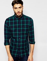 Jack Wills Shirt In Blackwatch Check In Navy