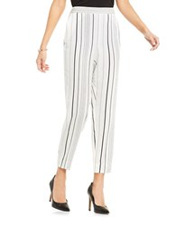Vince Camuto Pencil Striped Pants Ivory