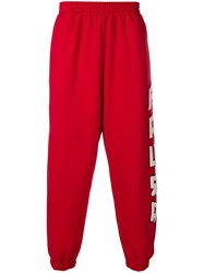 Paura Loose Track Trousers Red