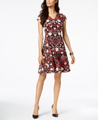 Alfani Petite Printed Fit And Flare Dress Created For Macy's Scrolling Gard