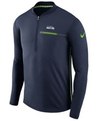 Nike Men's Seattle Seahawks Coaches Quarter Zip Pullover Navy