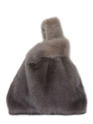 Simonetta Ravizza Furissima Gradient Mink Fur Bag Grey