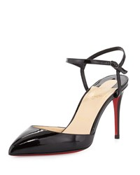 Christian Louboutin Rivierina Patent Red Sole Pump Black
