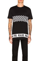 Givenchy Cropped Checkerboard Tee In Black Checkered And Plaid Black Checkered And Plaid