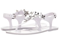 Michael Michael Kors Lola Jelly Thong Optic White Silver Pvc Women's Sandals