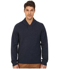 Original Penguin Long Sleeve Pullover Shawl W Back Neck Tipping Details Dark Sapphire Men's Sweater Blue