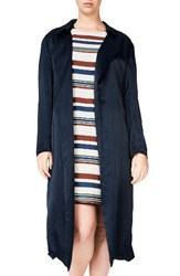 Elvi Plus Size Women's Trench Coat Navy