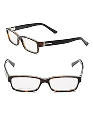 Gucci Tortoiseshell 69Mm Optical Glasses Brown