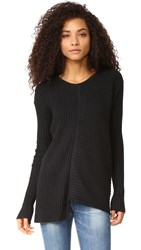 Wilt Mixed Rib Crew Neck Sweater Black