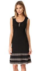 Nanette Lepore Santa Maria Lace Up Dress Black