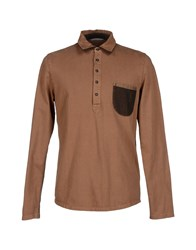 Novemb3r Topwear Polo Shirts Men Camel