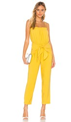 Bcbgeneration Strapless Jumpsuit In Yellow.