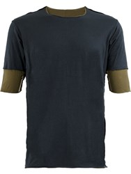 Attachment Layered T Shirt Blue