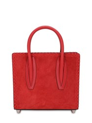 Christian Louboutin Paloma Mini Suede And Leather Bag Red