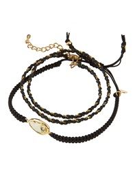 Tai Crystal Station And Braided Cord Set Of 2 Bracelets