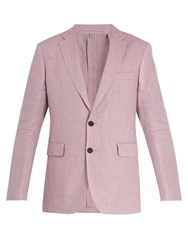 Burberry Soho Single Breasted Linen Jacket Pink