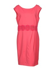 Via Delle Perle Vdp Collection Knee Length Dresses Fuchsia