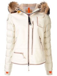 Parajumpers Hooded Puffer Jacket Neutrals