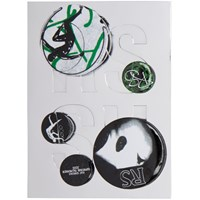 Raf Simons Black And Green Logo Pin Set