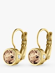 Dyrberg Kern Madu Swarovski Crystal Hook Drop Earrings Gold