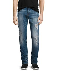 True Religion Rocco Distressed Skinny Jeans Blue