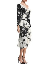 Delfi Collective Lily Floral Ruffle Dress Black Multi