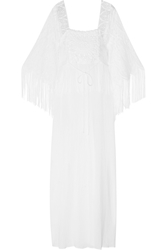 Miguelina Chelsea Crochet Paneled Cotton Gauze Maxi Dress